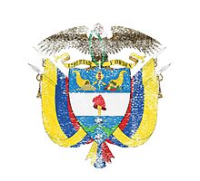 Colombian Coat of Arms Colombia Symbol Photographic Print