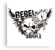 rebel sample text Canvas Print