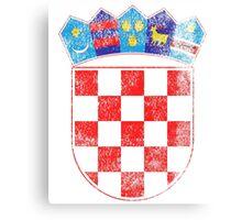 Croatian Coat of Arms Croatia Symbol Canvas Print