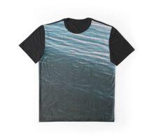 Summer Sunset Blue Waves Graphic T-Shirt