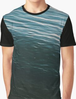 Summer Sunset Blue Waves Graphic T-Shirt