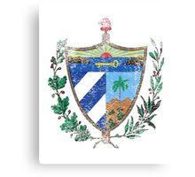 Cuban Coat of Arms Cuba Symbol  Canvas Print
