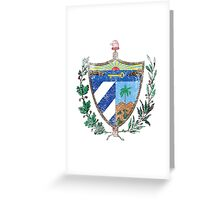Cuban Coat of Arms Cuba Symbol  Greeting Card