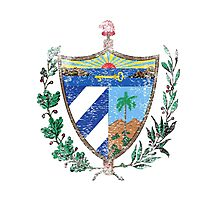 Cuban Coat of Arms Cuba Symbol  Photographic Print