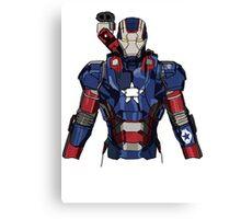 Iron Patriot Suit Canvas Print