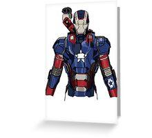 Iron Patriot Suit Greeting Card