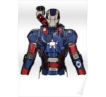 Iron Patriot Suit Poster