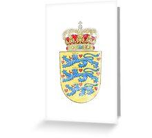 Danish Coat of Arms Denmark Symbol Greeting Card