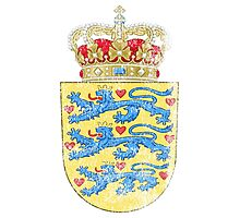 Danish Coat of Arms Denmark Symbol Photographic Print