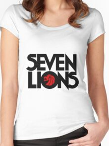 7 lions Women's Fitted Scoop T-Shirt
