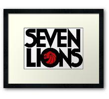 7 lions Framed Print