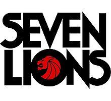 7 lions Photographic Print