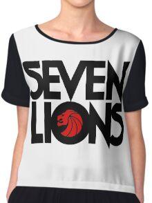 7 lions Chiffon Top