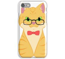 Orange Tabby Cat (Nerd Version) iPhone Case/Skin