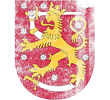 Finish Coat of Arms Finland Symbol Photographic Print