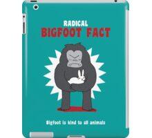 Bigfoot is kind to all animals iPad Case/Skin