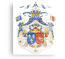 French Coat of Arms France Symbol Canvas Print