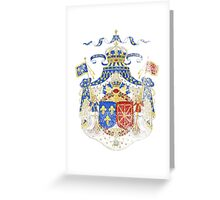 French Coat of Arms France Symbol Greeting Card