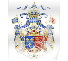 French Coat of Arms France Symbol Poster