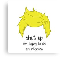 shut up i'm trying to do an interview - Niall Canvas Print