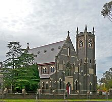 Parish Church of  Mary Queen of Peace , Scone, Australia by Margaret  Hyde