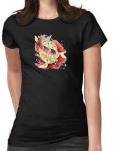 Two Yellow Koi Womens Fitted T-Shirt