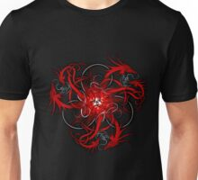 Red Norse Dragons Triskele Unisex T-Shirt