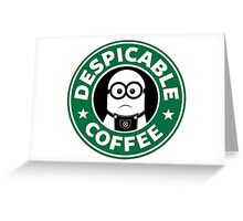 Despicable Coffee Greeting Card