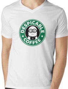 Despicable Coffee Mens V-Neck T-Shirt