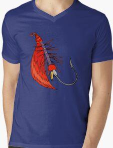 Fishing, Funny, vintage, retro, humour, parody, tshirt Mens V-Neck T-Shirt