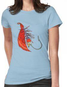 Fishing, Funny, vintage, retro, humour, parody, tshirt Womens Fitted T-Shirt