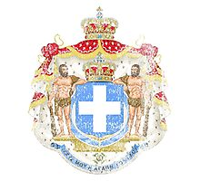 Greek Coat of Arms Greece Symbol Photographic Print