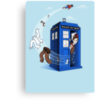 Superman's TARDIS (Iphonecase) Canvas Print