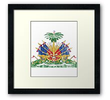 Haitian Coat of Arms Haiti Symbol Framed Print