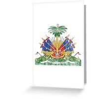 Haitian Coat of Arms Haiti Symbol Greeting Card