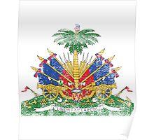 Haitian Coat of Arms Haiti Symbol Poster