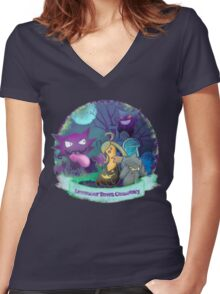 Town Cemetery   Women's Fitted V-Neck T-Shirt