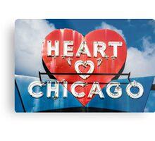 Chicago's Heart Motel Metal Print