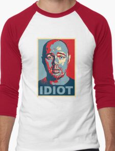 Idiot  Men's Baseball ¾ T-Shirt