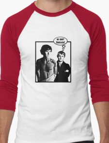 No Shirt Sherlock! Men's Baseball ¾ T-Shirt