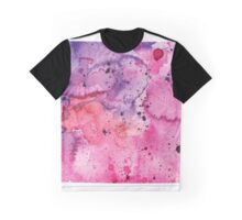 Watercolor Map of Colorado, USA in Pink and Purple - Giclee Print of My Own Watercolor Painting Graphic T-Shirt