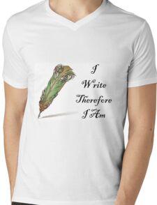 I Write Therefore I Am  Mens V-Neck T-Shirt