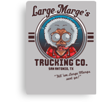 Large Marge's Trucking Co. Canvas Print