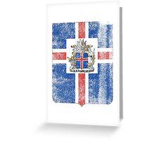 Icelanders Coat of Arms Iceland Symbol Greeting Card