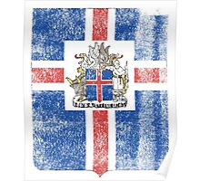 Icelanders Coat of Arms Iceland Symbol Poster