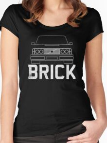 Old Volvo Brick Women's Fitted Scoop T-Shirt