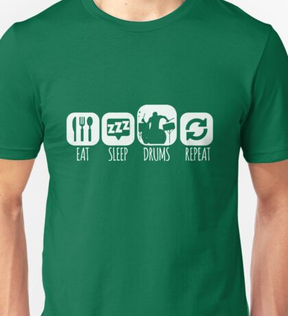 Eat Sleep Drums Drummer Mantra Unisex T-Shirt
