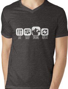 Eat Sleep Drums Drummer Mantra Mens V-Neck T-Shirt