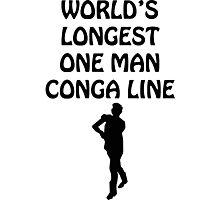 World's Longest One Man Conga Line Photographic Print