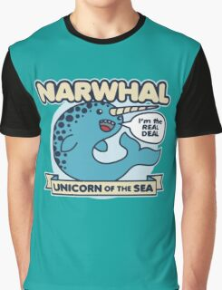 Narwhal Unicorn Of The Sea Graphic T-Shirt
